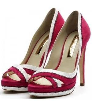 peep toe plataforma calzado dama