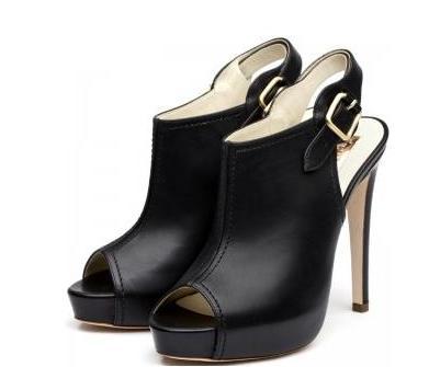 botin peep toe femeninos