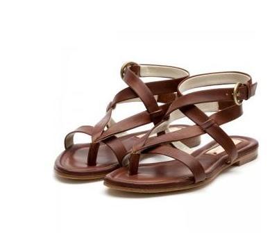 sandalias planas para moda femenina