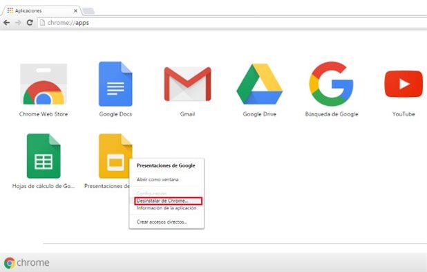 Desinstalar Chrome